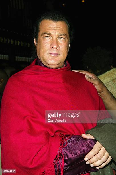 Actor Steven Seagal attends the launch party for the Victoria's Secret limited edition Sexy book at the Maritime Hotel February 12 2003 in New York...