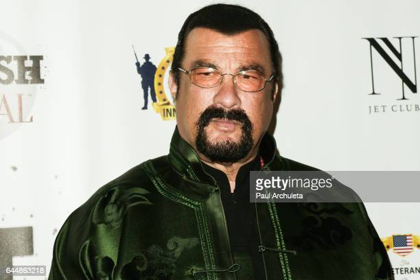 Actor Steven Seagal attends the SMASH Global V preOscar fight at Taglyan Complex on February 23 2017 in Los Angeles California