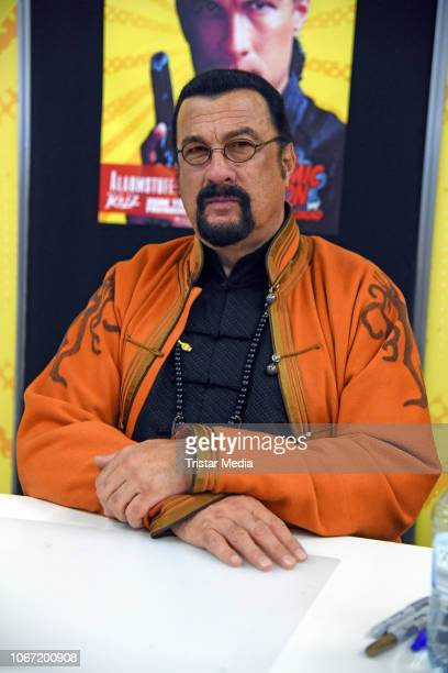 US actor Steven Seagal during the German Comic Con at Westfalenhalle on December 1 2018 in Dortmund Germany It is the very first Comic Convention...