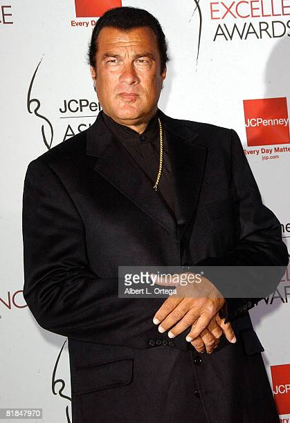 Actor Steven Segal arrives forThe 2008 JCPenney Asian Excellence Awards on April 23 2008 at UCLA's Royce Hall in Westwood California USA