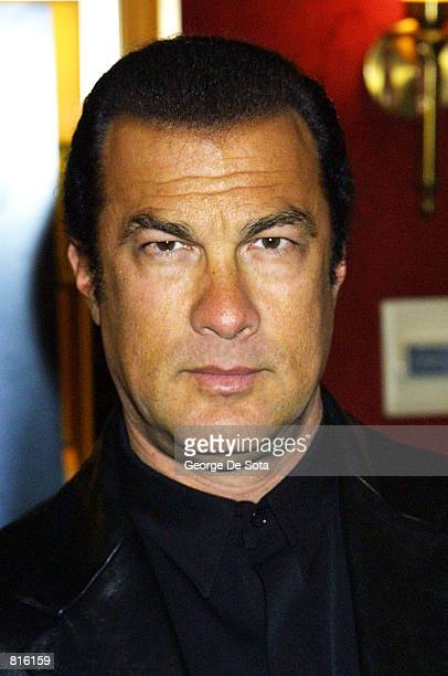 Actor Steven Segal attends the premiere of Exit Wounds March 9 2001 at the Ziefeld theatre in New York City