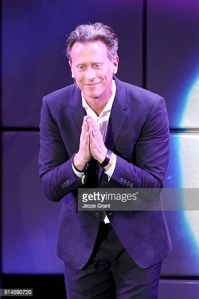 Actor Steven Weber performs onstage during the 24th and final 'A Night at Sardi's' to benefit the Alzheimer's Association at The Beverly Hilton Hotel...