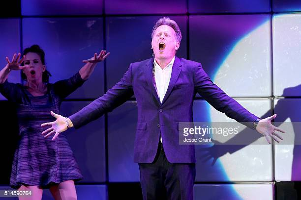 Actor Steven Weber performs onstage during the 24th and final A Night at Sardi's to benefit the Alzheimer's Association at The Beverly Hilton Hotel...