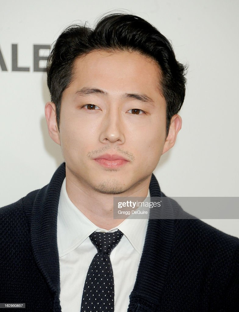 Actor Steven Yeun arrives at the 30th Annual PaleyFest: The William S. Paley Television Festival featuring 'The Walking Dead' at Saban Theatre on March 1, 2013 in Beverly Hills, California.