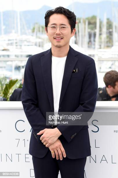 Actor Steven Yeun attends 'Burning' Photocall during the 71st annual Cannes Film Festival at Palais des Festivals on May 17 2018 in Cannes France