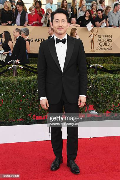 Actor Steven Yeun attends the 23rd Annual Screen Actors Guild Awards at The Shrine Expo Hall on January 29 2017 in Los Angeles California