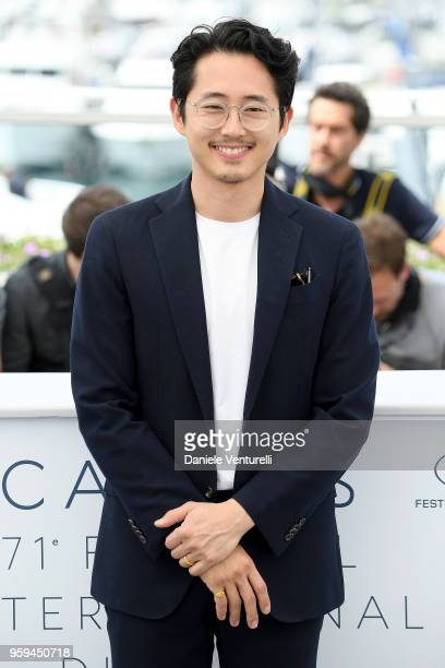 Actor Steven Yeun attends the photocall for the 'Burning' during the 71st annual Cannes Film Festival at Palais des Festivals on May 17 2018 in...