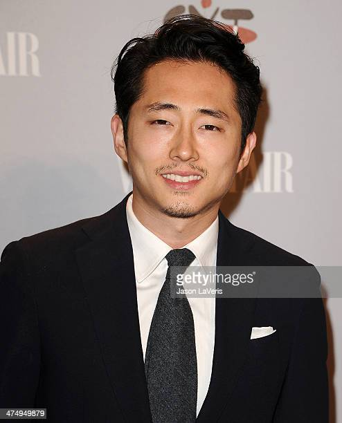 Actor Steven Yeun attends the Vanity Fair Campaign Young Hollywood party at No Vacancy on February 25 2014 in Los Angeles California