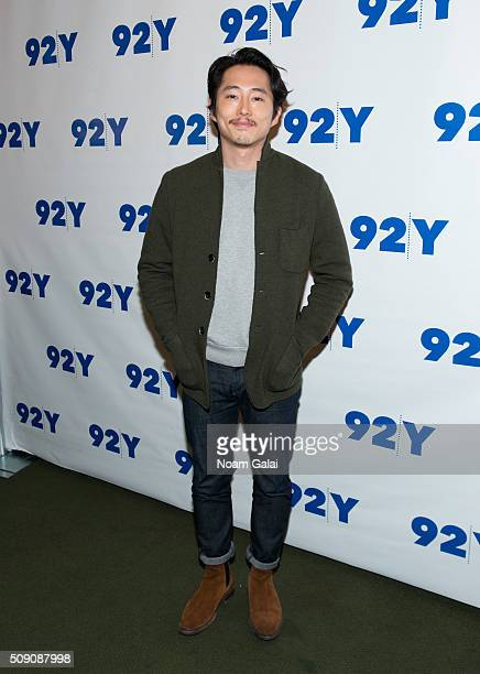 Actor Steven Yeun attends 'The Walking Dead' screening and conversation at 92nd Street Y on February 8 2016 in New York City