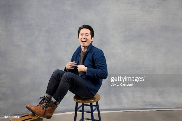Actor Steven Yeun from the film 'Sorry to Bother You' is photographed for Los Angeles Times on January 20 2018 in the LA Times Studio at Chase...