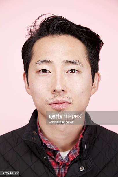 Actor Steven Yeun is photographed for Entertainment Weekly Magazine on January 25 2014 in Park City Utah