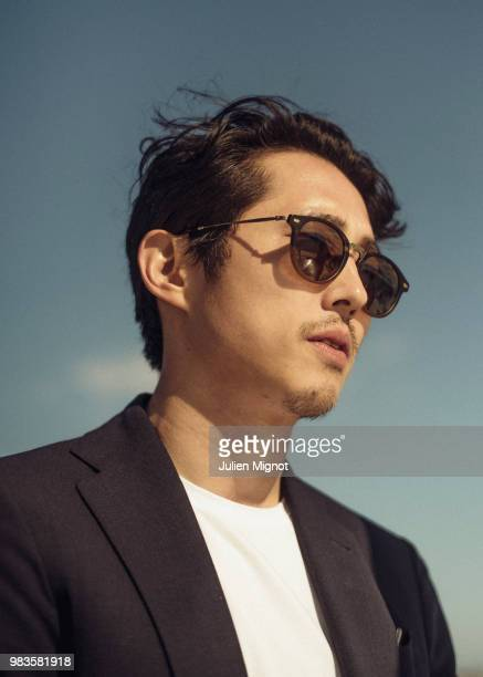 Actor Steven Yeun is photographed for Grazia Daily on May 2018 in Cannes France