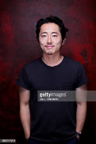 Actor Steven Yeun of 'The Walking Dead' poses for a portrait at ComicCon International 2015 for Los Angeles Times on July 9 2015 in San Diego...