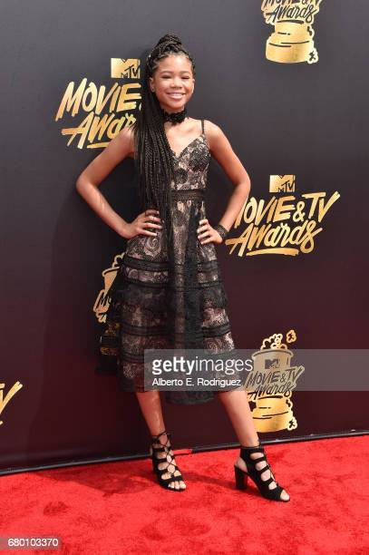 Actor Storm Reid attends the 2017 MTV Movie And TV Awards at The Shrine Auditorium on May 7 2017 in Los Angeles California