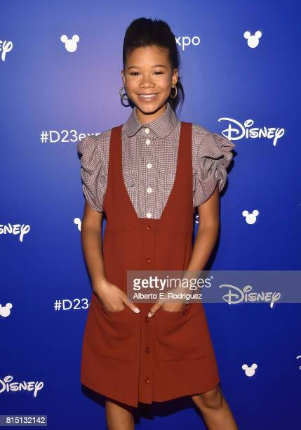 Actor Storm Reid of A WRINKLE IN TIME took part today in the Walt Disney Studios live action presentation at Disney's D23 EXPO 2017 in Anaheim Calif...
