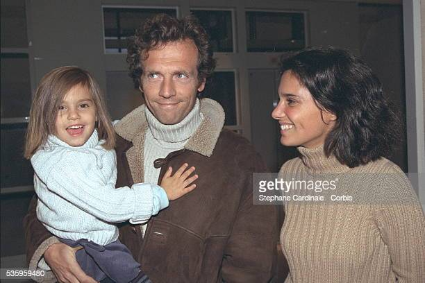 Actor Stéphane Freiss with his wife Ursula and their daughter Camille