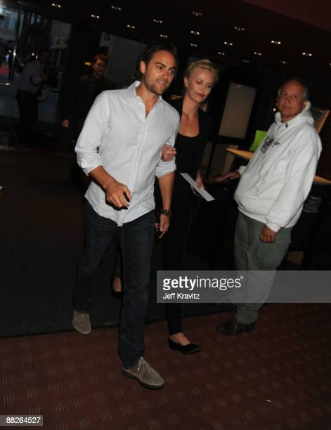Actor Stuart Townsend and Actress Charlize Theron arrive at Summit Entertainment's Premiere of The Hurt Locker held at the Egyptian Theatre on June 5...