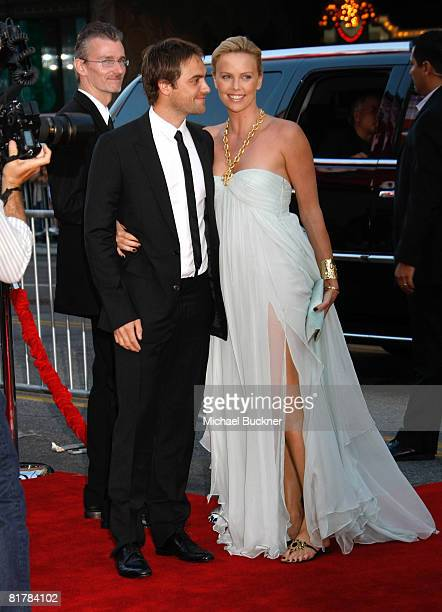 Actor Stuart Townsend and actress Charlize Theron arrive to the Premiere of Sony Pictures' 'Hancock' at Grauman's Chinese Theatre on June 30 2008 in...