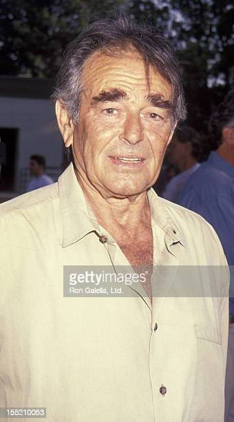 Actor Stuart Whitman and wife Caroline Boubis attend An Evening at the Net Tennis Benefit on August 3 1992 at the Los Angeles Tennis Center in Los...