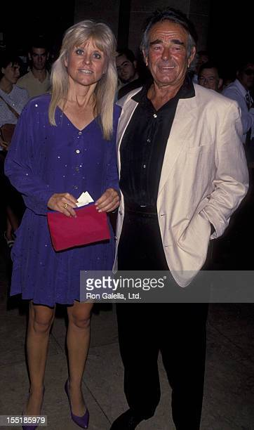 Actor Stuart Whitman and wife Caroline Boubis attend Nineth Annual American Cinematheque Awards Honoring Rob Reiner on September 9 1994 at the...