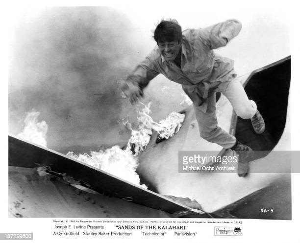 Actor Stuart Whitman on set of Paramount Pictures movie Sands of the Kalahari in 1965