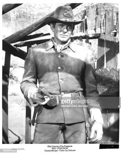 Actor Stuart Whitman on set of the 20th Century Fox movie Rio Conchos in 1964