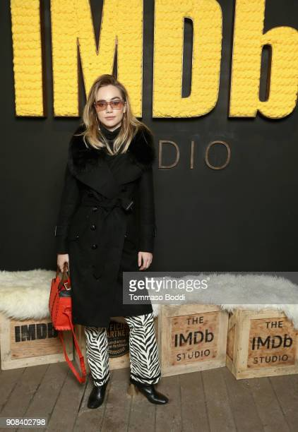 Actor Suki Waterhouse of 'Assassination Nation' attends The IMDb Studio and The IMDb Show on Location at The Sundance Film Festival on January 21...
