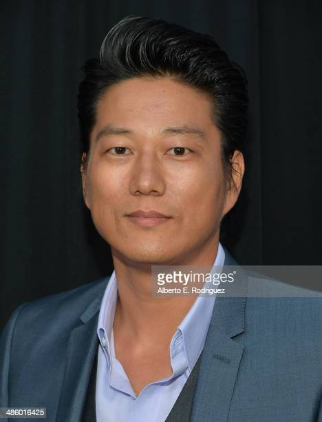 Actor Sung Kang arrives to the premiere of Fox's Gang Releted at Homeboy Industries on April 21 2014 in Los Angeles California