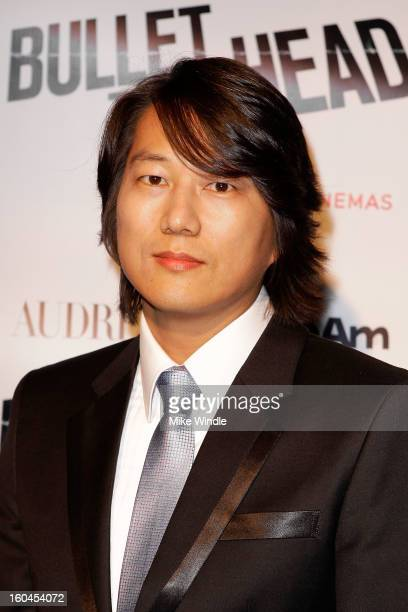 Actor Sung Kang attends KoreAm Journal and Audrey Magazine's advanced screening of 'Bullet To The Head' at CGV Cinemas on January 31 2013 in Los...