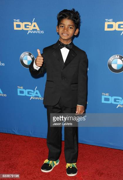 Actor Sunny Pawar attends the 69th annual Directors Guild of America Awards at The Beverly Hilton Hotel on February 4 2017 in Beverly Hills California