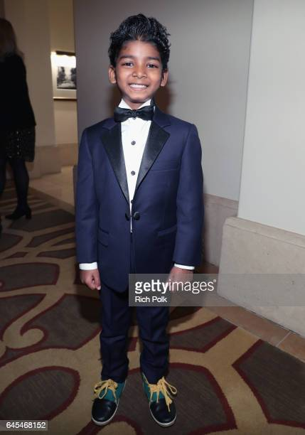 Actor Sunny Pawar attends The Weinstein Company's PreOscar Dinner in partnership with Bvlgari and Grey Goose at Montage Beverly Hills on February 25...