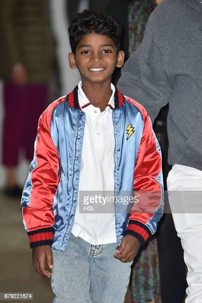 Actor Sunny Pawar seen at the ITV Studios on May 5 2017 in London England