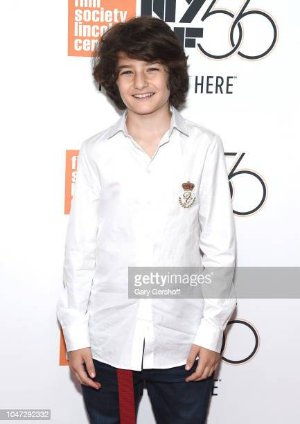Actor Sunny Suljic attends the New York premiere of 'Mid90s' during the 56th New York Film Festival at Alice Tully Hall Lincoln Center on October 7...
