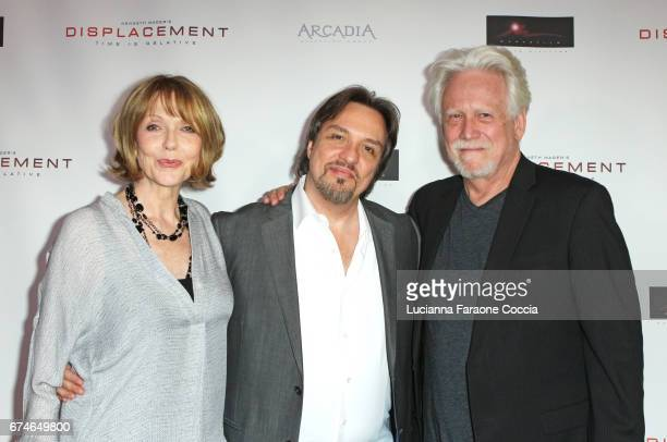 Actor Susan Blakely director Kenneth Mader and actor Bruce Davison attend the premiere of Arcadia Releasing Group's Displacement at Laemmle Monica...