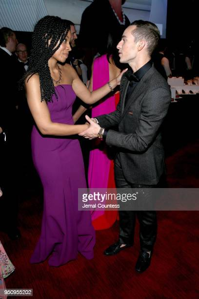 Actor Susan Kelechi Watson and olympian Adam Rippon attend the 2018 Time 100 Gala at Jazz at Lincoln Center on April 24 2018 in New York City