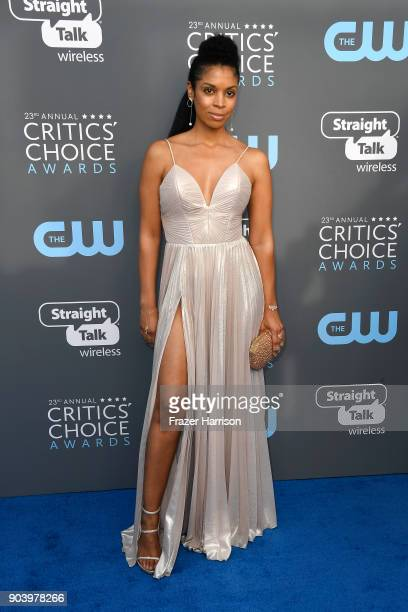 Actor Susan Kelechi Watson attends The 23rd Annual Critics' Choice Awards at Barker Hangar on January 11 2018 in Santa Monica California