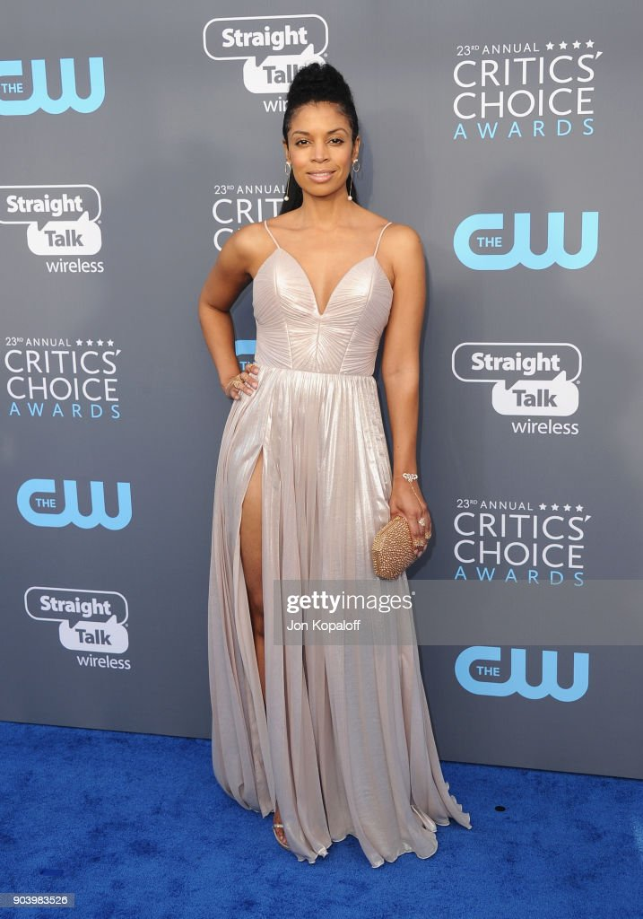 Actor Susan Kelechi Watson attends The 23rd Annual Critics' Choice Awards at Barker Hangar on January 11, 2018 in Santa Monica, California.