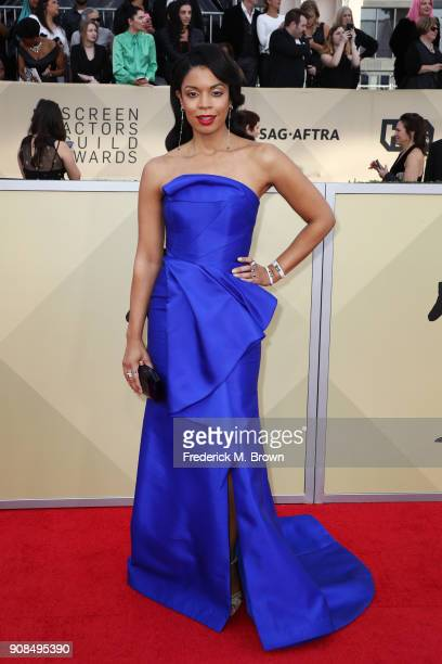 Actor Susan Kelechi Watson attends the 24th Annual Screen Actors Guild Awards at The Shrine Auditorium on January 21 2018 in Los Angeles California...