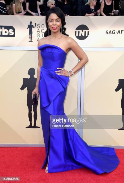 Actor Susan Kelechi Watson attends the 24th Annual Screen ActorsGuild Awards at The Shrine Auditorium on January 21 2018 in Los Angeles California