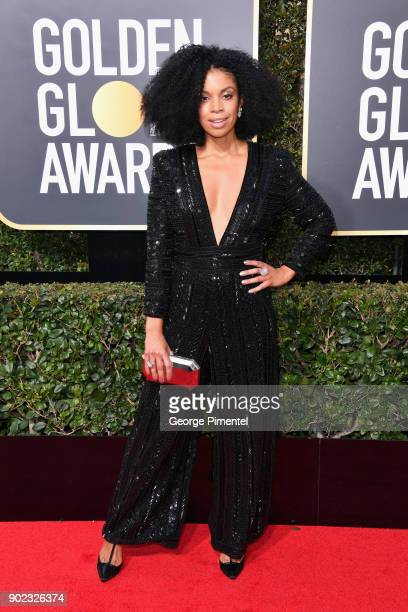 Actor Susan Kelechi Watson attends The 75th Annual Golden Globe Awards at The Beverly Hilton Hotel on January 7 2018 in Beverly Hills California