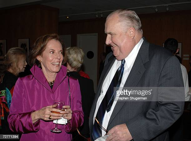 Actor Susan Kohner and film historian Bob Dickson attend the tribute to Mexican actress Lupita Tovar at the Academy of Motion Picture Arts and...