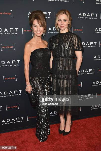 Actor Susan Lucci and ADAPT Leadership Awards presenter Cara Buono attend the Adapt Leadership Awards Gala 2018 at Cipriani 42nd Street on March 8...