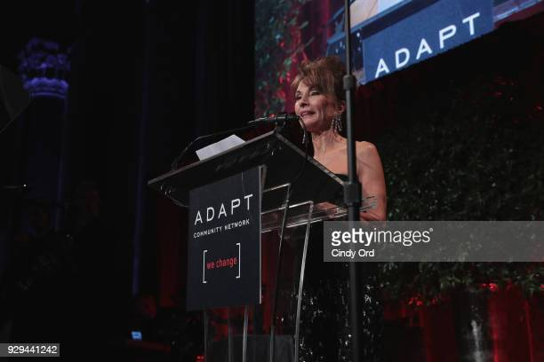 Actor Susan Lucci speaks at the Adapt Leadership Awards Gala 2018 at Cipriani 42nd Street on March 8 2018 in New York City