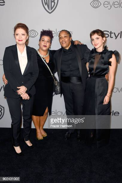 Actor Susan Sarandon activists Rosa Clemente and Marai Larasi and actor Emma Watson attend 19th Annual PostGolden Globes Party hosted by Warner Bros...