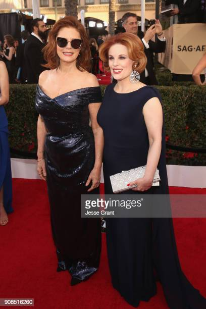 Actor Susan Sarandon and Kat Kramer attend the 24th Annual Screen Actors Guild Awards at The Shrine Auditorium on January 21 2018 in Los Angeles...