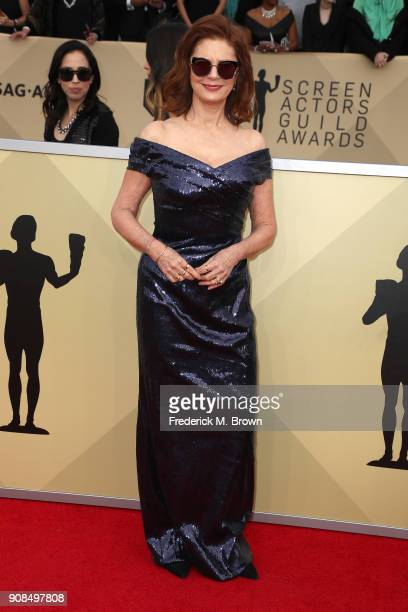 Actor Susan Sarandon attends the 24th Annual Screen Actors Guild Awards at The Shrine Auditorium on January 21 2018 in Los Angeles California...