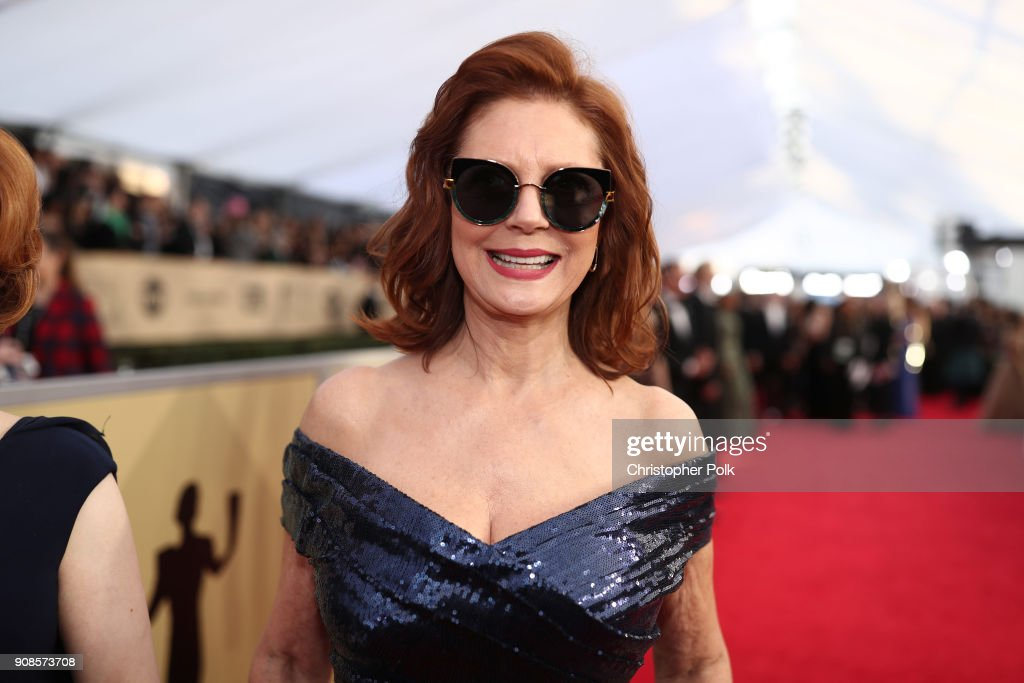 Actor Susan Sarandon attends the 24th Annual Screen Actors Guild Awards at The Shrine Auditorium on January 21, 2018 in Los Angeles, California. 27522_010