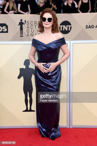 Actor Susan Sarandon attends the 24th Annual Screen ActorsGuild Awards at The Shrine Auditorium on January 21 2018 in Los Angeles California