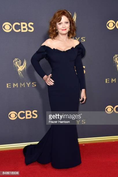 Actor Susan Sarandon attends the 69th Annual Primetime Emmy Awards at Microsoft Theater on September 17 2017 in Los Angeles California