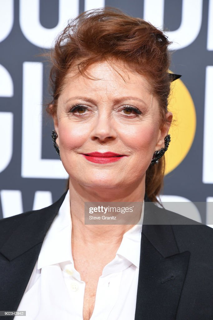 Actor Susan Sarandon attends The 75th Annual Golden Globe Awards at The Beverly Hilton Hotel on January 7, 2018 in Beverly Hills, California.